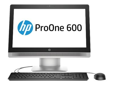 HP ProOne 600 G2 AIO Core i5-6500 3.2GHz 4GB 500GB DVD-RW GbE ac BT WC 21.5 HD W7P64-W10P, P5V64UT#ABA, 30782517, Desktops - All-in-One