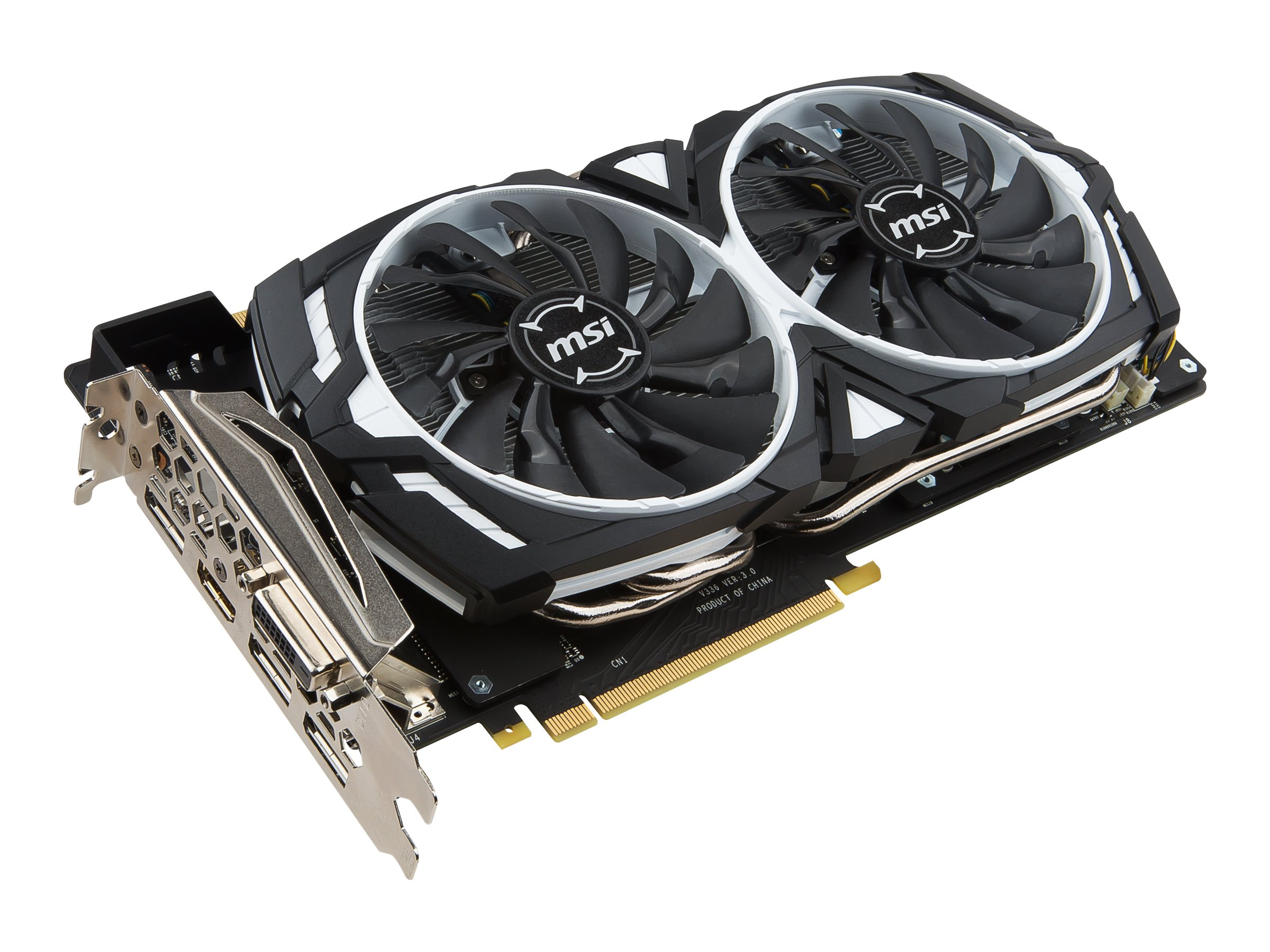 Microstar GeForce GTX1080 Armor Overclocked Graphics Card, 8GB GDDR5X, GTX 1080 ARMOR 8G OC