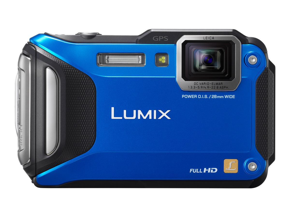 Panasonic Lumix DMC-TS5 Tough Digital Camera, 16.1MP, 9.3x Zoom, Blue
