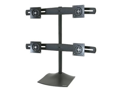 Ergotron DS100 Quad-Monitor Desk Stand, Black, 33-324-200, 7823915, Stands & Mounts - AV