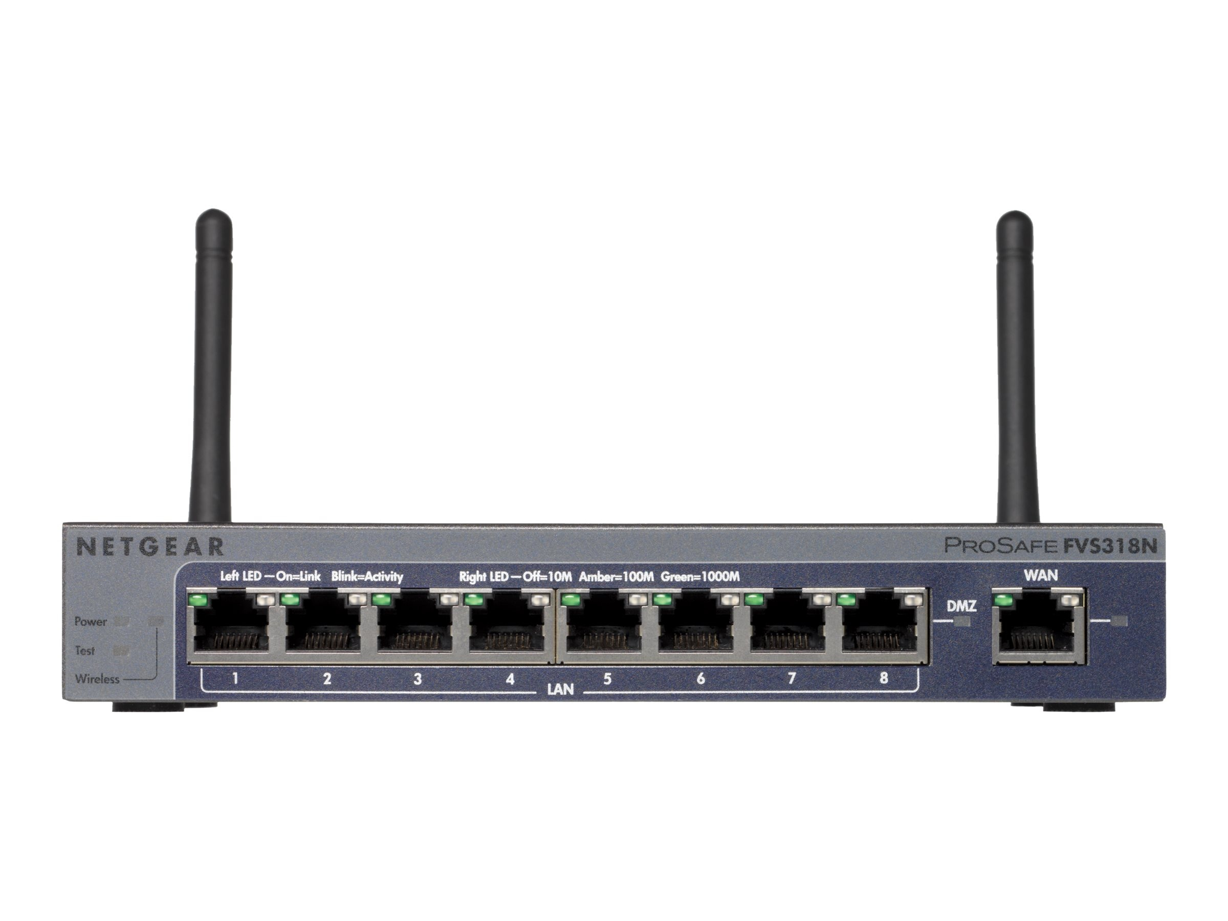 Netgear ProSafe Wireless-N 8-port Gigabit VPN Firewall, FVS318N-100NAS