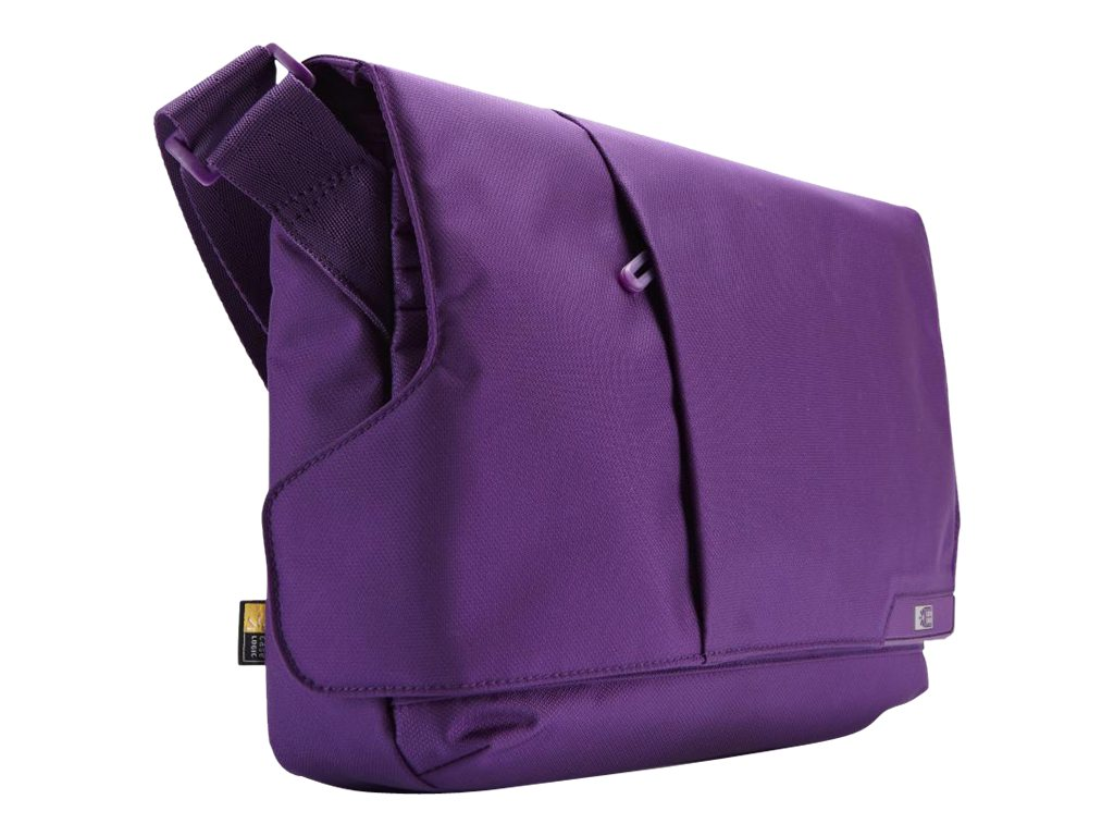 Case Logic 11 Laptop and iPad Messenger Bag, Gotham Purple, MLM-111GOTHAMPURPLE, 14879263, Carrying Cases - Notebook