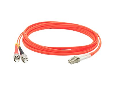 ACP-EP LC-ST 62.5 125 OM1 Multimode Duplex Fiber Cable, Orange, 25m