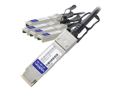 ACP-EP Dell Compatible 100GBase-CU QSFP28 to 4xSFP28 Passive Twinax Direct Attach Cable, 3m