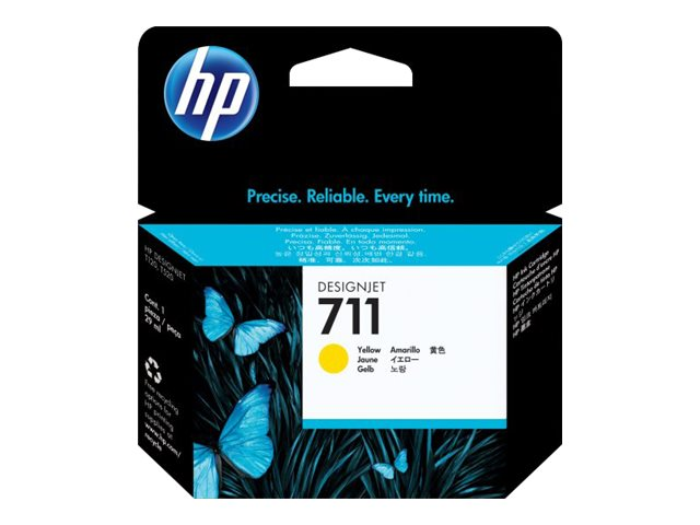 HP 711 29-ml Yellow Ink Cartridge, CZ132A, 14736481, Ink Cartridges & Ink Refill Kits
