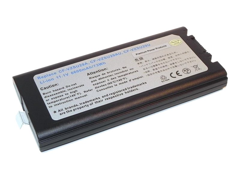 Ereplacements 9-Cell 7800mAh Battery for Panasonic ToughBook CF-29 CF-52, CF-VZSU29U-ER, 21406069, Batteries - Other