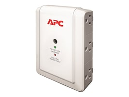 APC Essential SurgeArrest Wallmount Surge Protector 120V (6) 5-15R Outlets, P6W, 12096142, Surge Suppressors