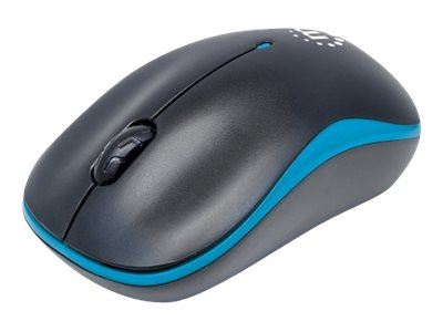 Manhattan USB Success Wireless Optical Mouse, 3 Buttons, Blue Black