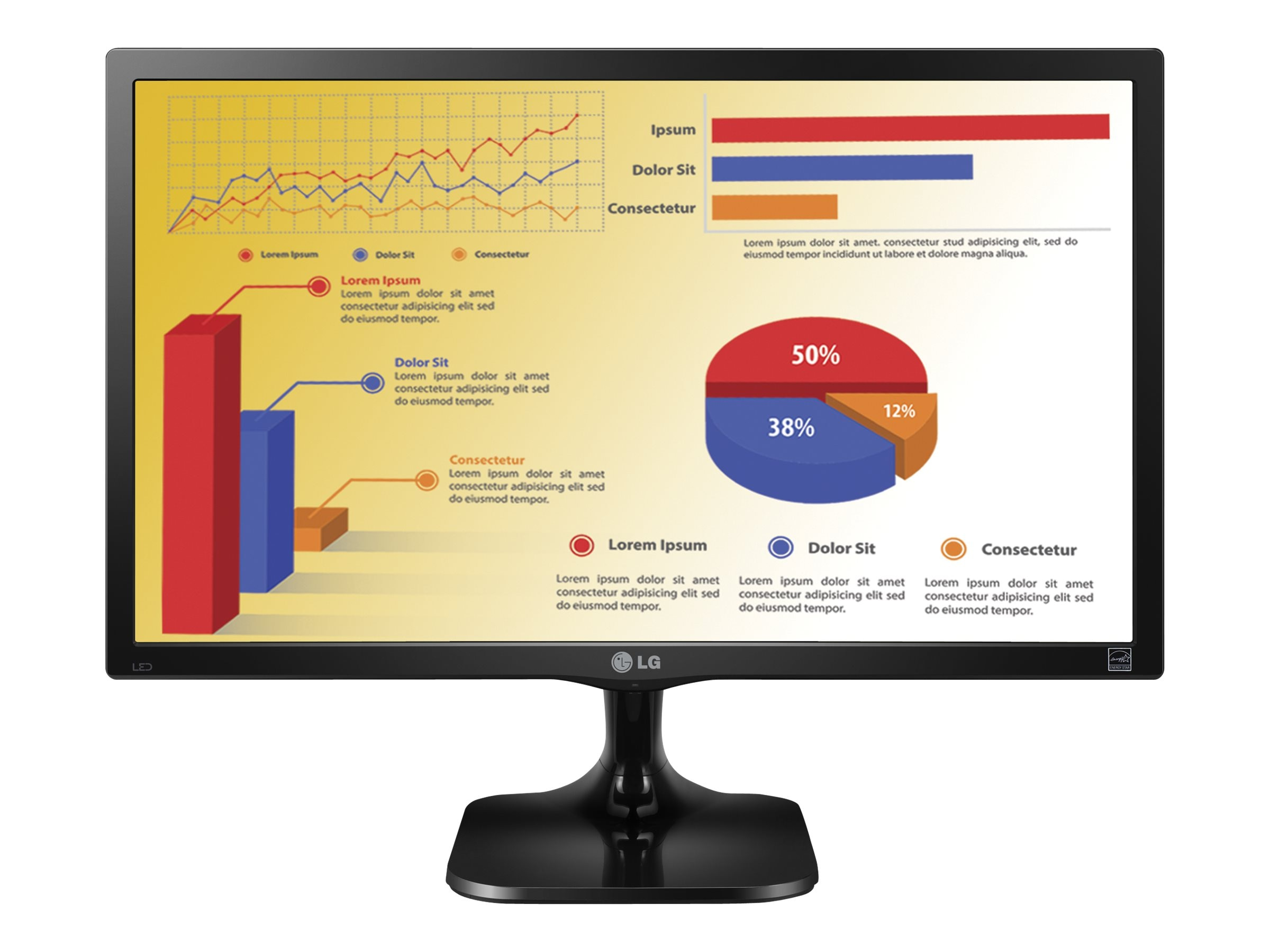 LG 24 MC37D-B Full HD LED-LCD Monitor, Black, 24MC37D-B