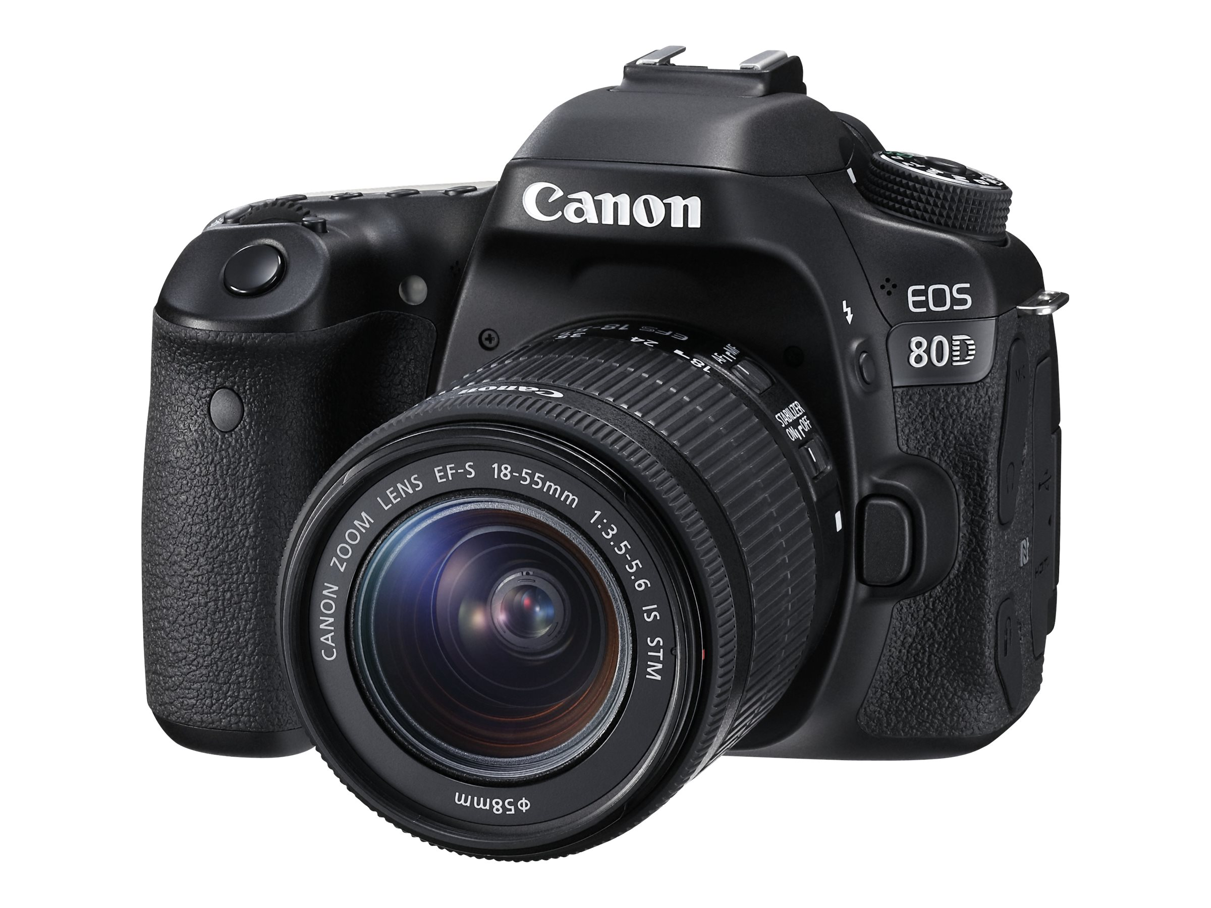 Canon EOS 80D DSLR Camera with 18-55mm IS STM Lens, 1263C005