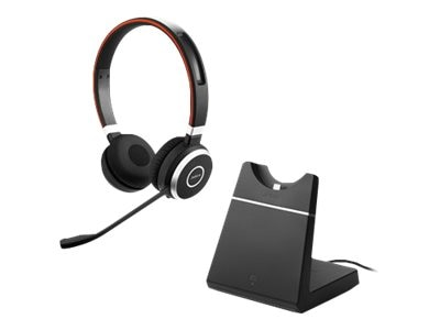 Jabra Evolve 65 Stereo MC Headset w  Charging Stand Link 360, 6599-823-399