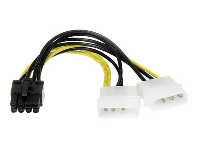 StarTech.com LP4 to 8-Pin PCI Express Video Card Power Cable Adapter, 6in, LP4PCIEX8ADP, 13515100, Cables