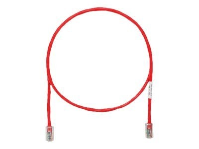Panduit CAT5e UTP Copper Patch Cable, Red, 2ft, UTPCH2RDY