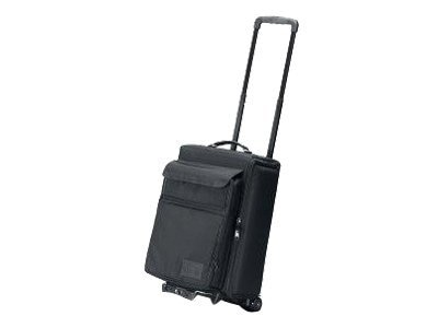 Jelco Padded Hard Side Travel Case for Projector with Removable Laptop Case, Wheeled, Black, 12x15x22, JEL-1666RP, 17234461, Carrying Cases - Other