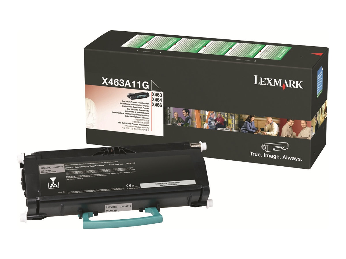 Lexmark Black Return Program Toner Cartridge for X463de, X464de & X466 Series MFPs, X463A11G, 9644566, Toner and Imaging Components
