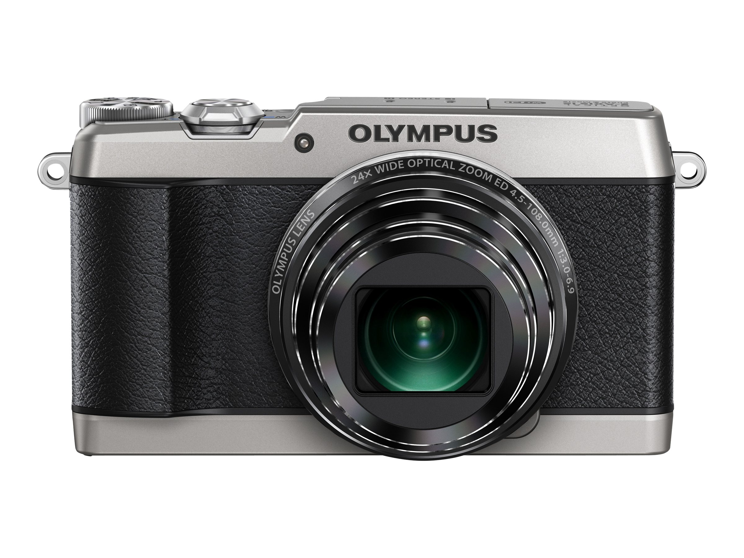Olympus Stylus SH-1 Digital Camera, 16MP, Silver, V107080SU000