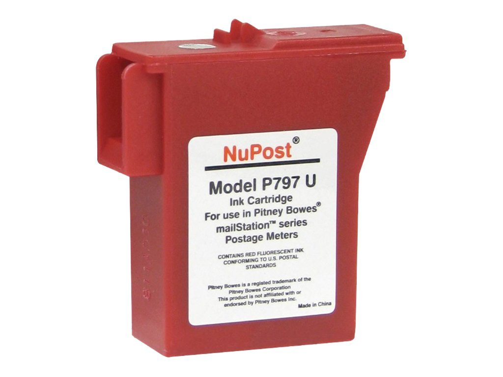 V7 Red Postage Meter Ink Cartridge for K700 K7MO, NPTK700, 11133132, Ink Cartridges & Ink Refill Kits