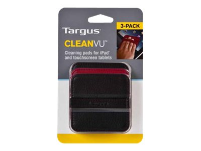 Targus CleanVu Cleaning Pads for iPad, Black Red Case, 3-Pack