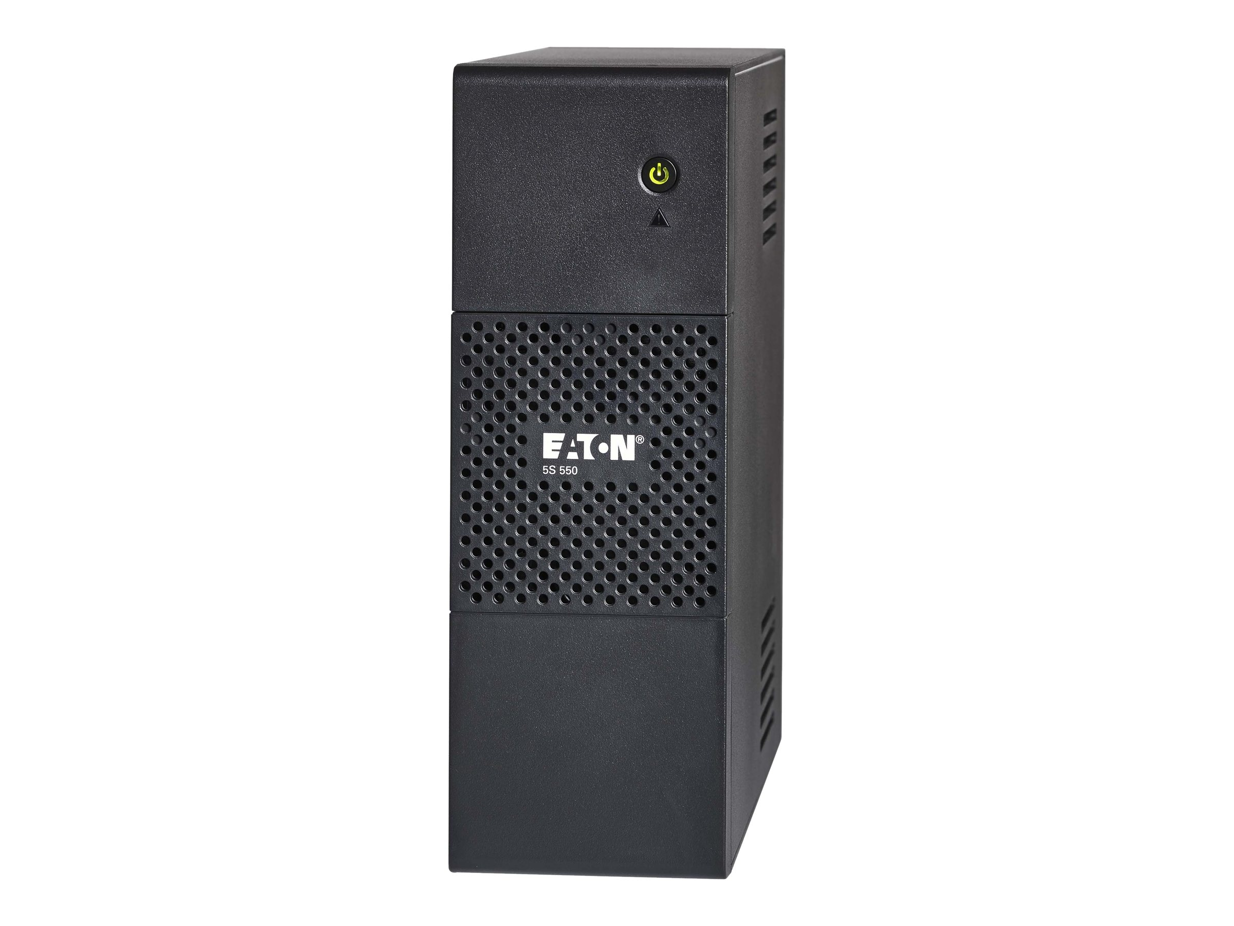 Eaton 5S 550VA 330W 120V Line-interactive Tower UPS 5-15P Input 6ft Cord (8) 5-15R Outlets USB, 5S550, 15792451, Battery Backup/UPS