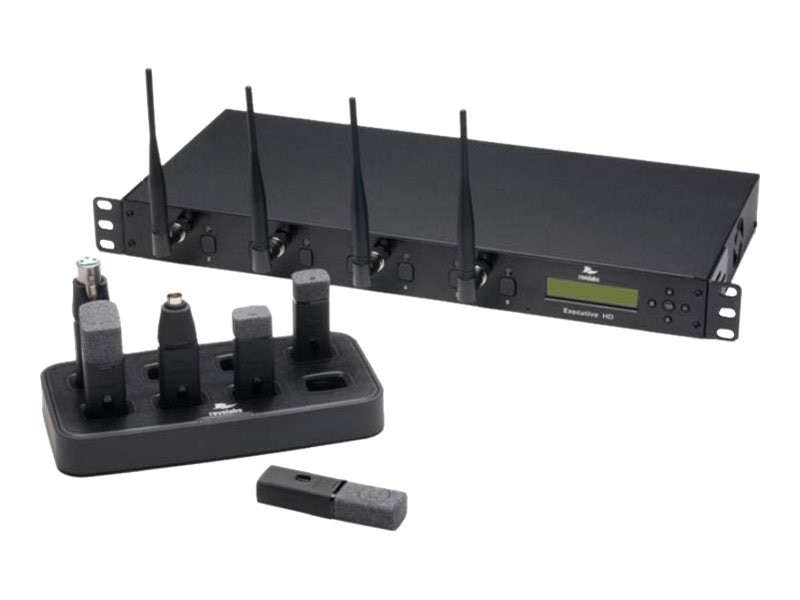 Revolabs Executive HD Wireless Microphone System 8-Channel, w  (6) Omni, (2) Wearable Mics, GSA Compliant, 01-HDEXEC8-62G