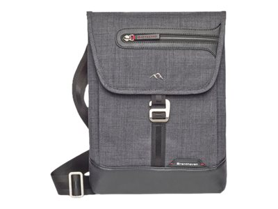 Brenthaven Collins Vertical Messenger Bag w  HDF Protection for 13 Laptops, Gray, 1957, 30788450, Carrying Cases - Notebook