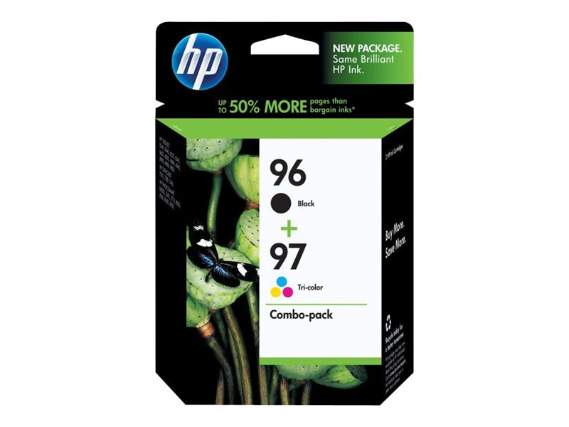 HP 96 (C9353FN) Black 97 Tri-color 2-pack Original Ink Cartridges, C9353FN#140, 8333395, Ink Cartridges & Ink Refill Kits