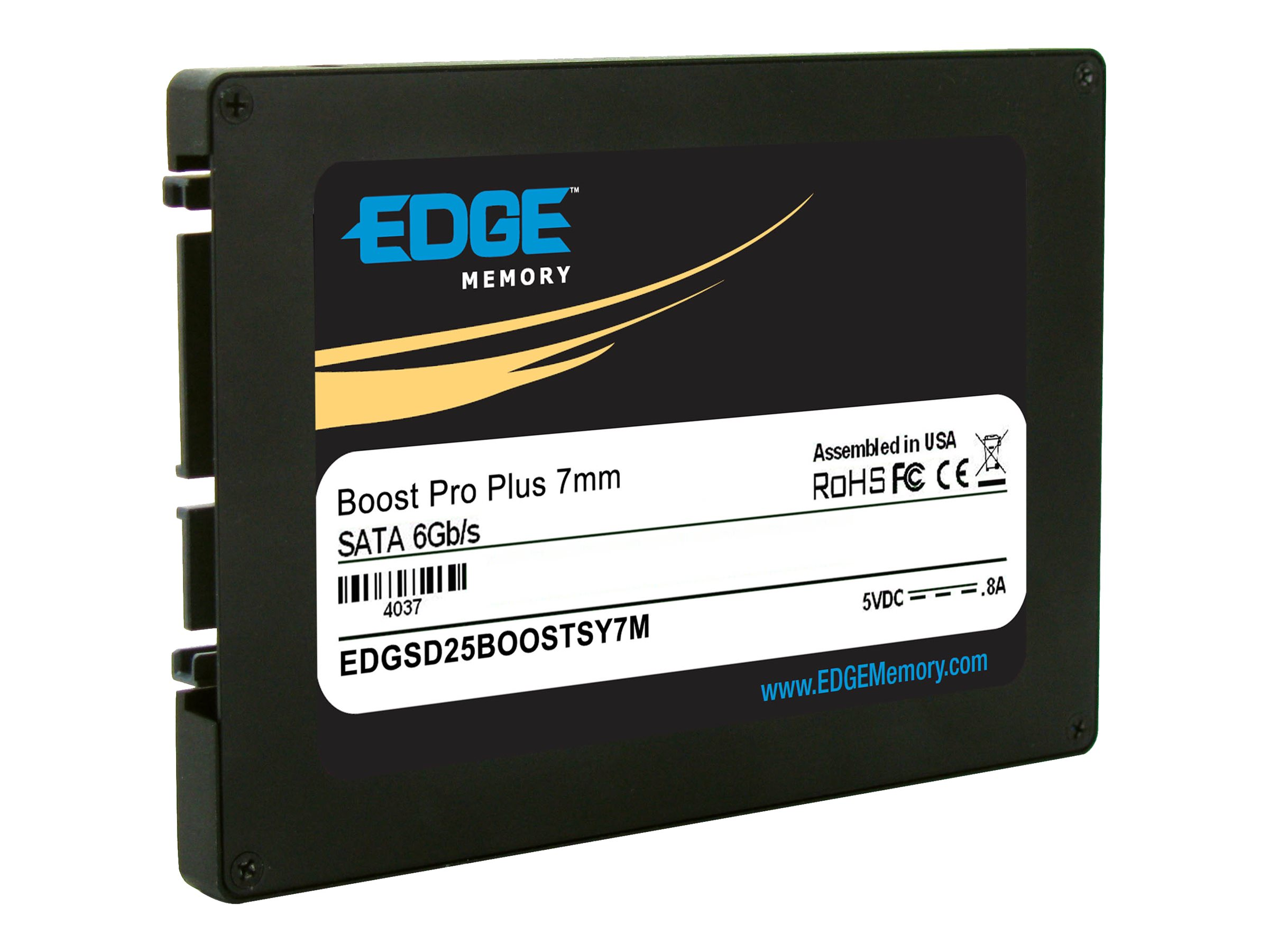 Edge 480GB Boost Pro Plus SATA 6Gb s 2.5 7mm Internal Solid State Drive, PE239459