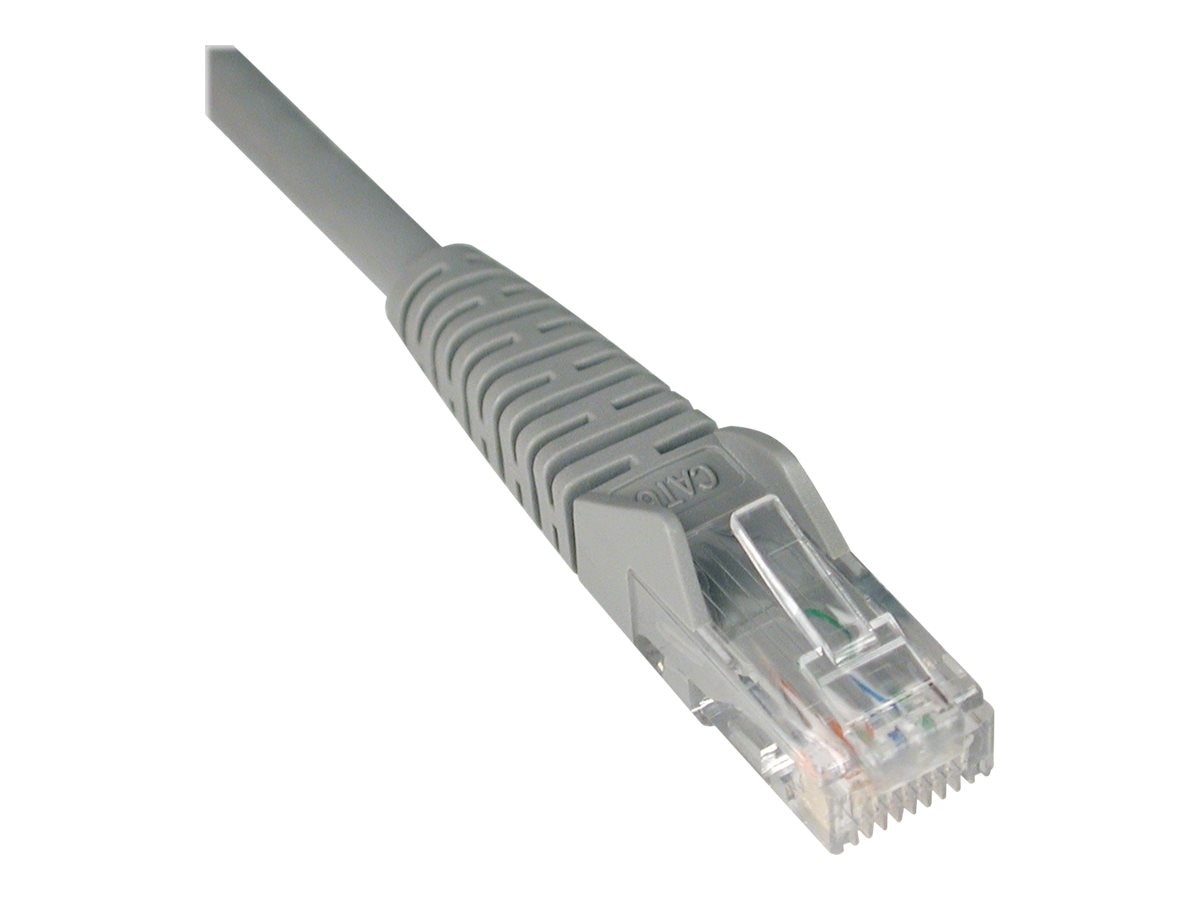 Tripp Lite Cat6 UTP Gigabit Ethernet Patch Cable, Gray, Snagless, 5ft, N201-005-GY, 385738, Cables