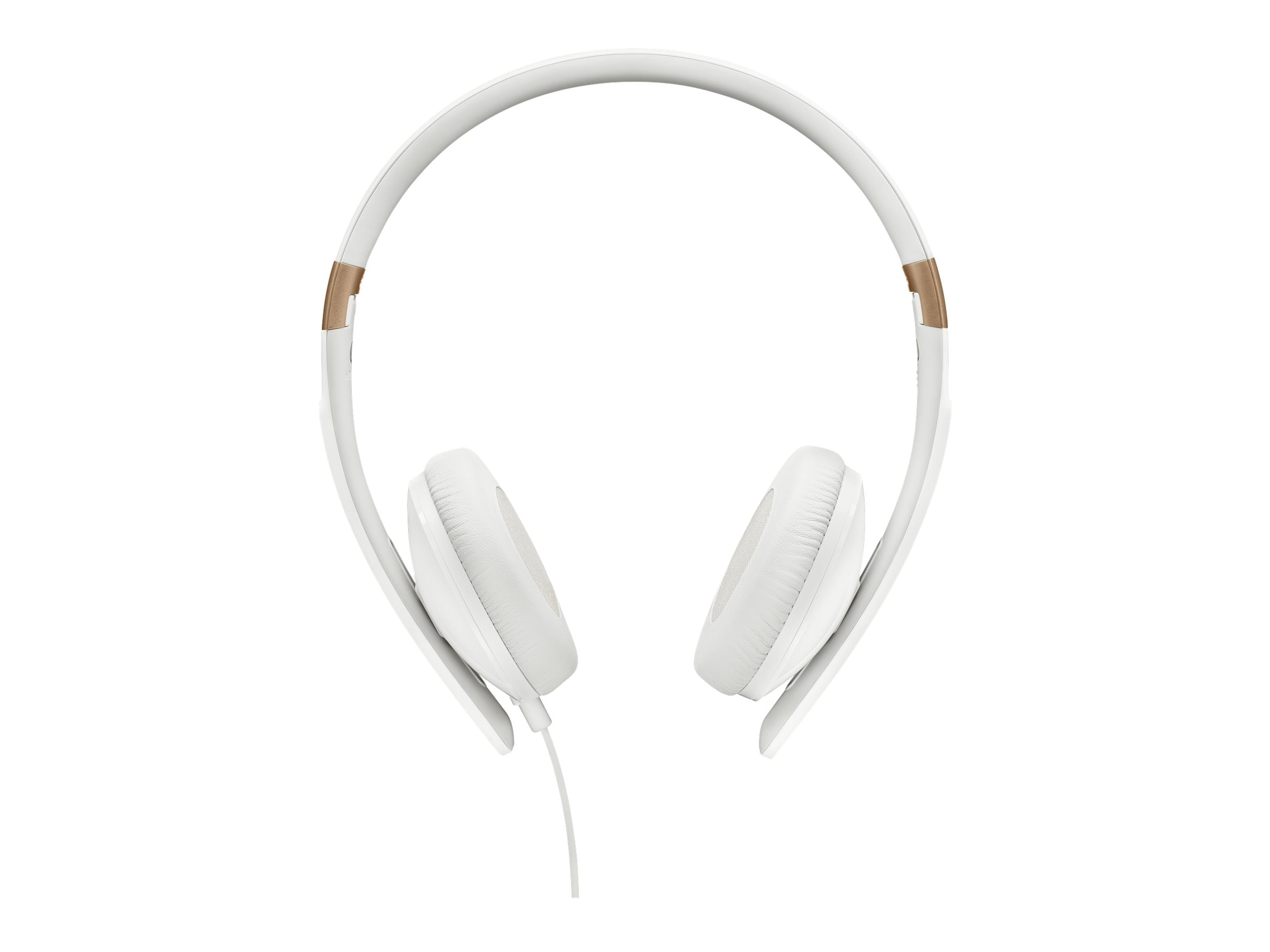 Sennheiser Slim Lightweight Foldable Headphones with 3-Button Remote Mic, White, HD 2.30 G WHITE