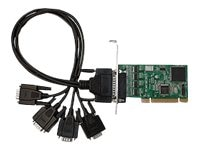 Siig 4-port Industrial RS-232 Uinversal PCI Adapter Card w  15KV, ID-P40111-S1, 13036723, Controller Cards & I/O Boards