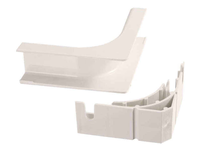 C2G Wiremold Uniduct 2800 Bend Radius Compliant Internal Elbow, Fog White