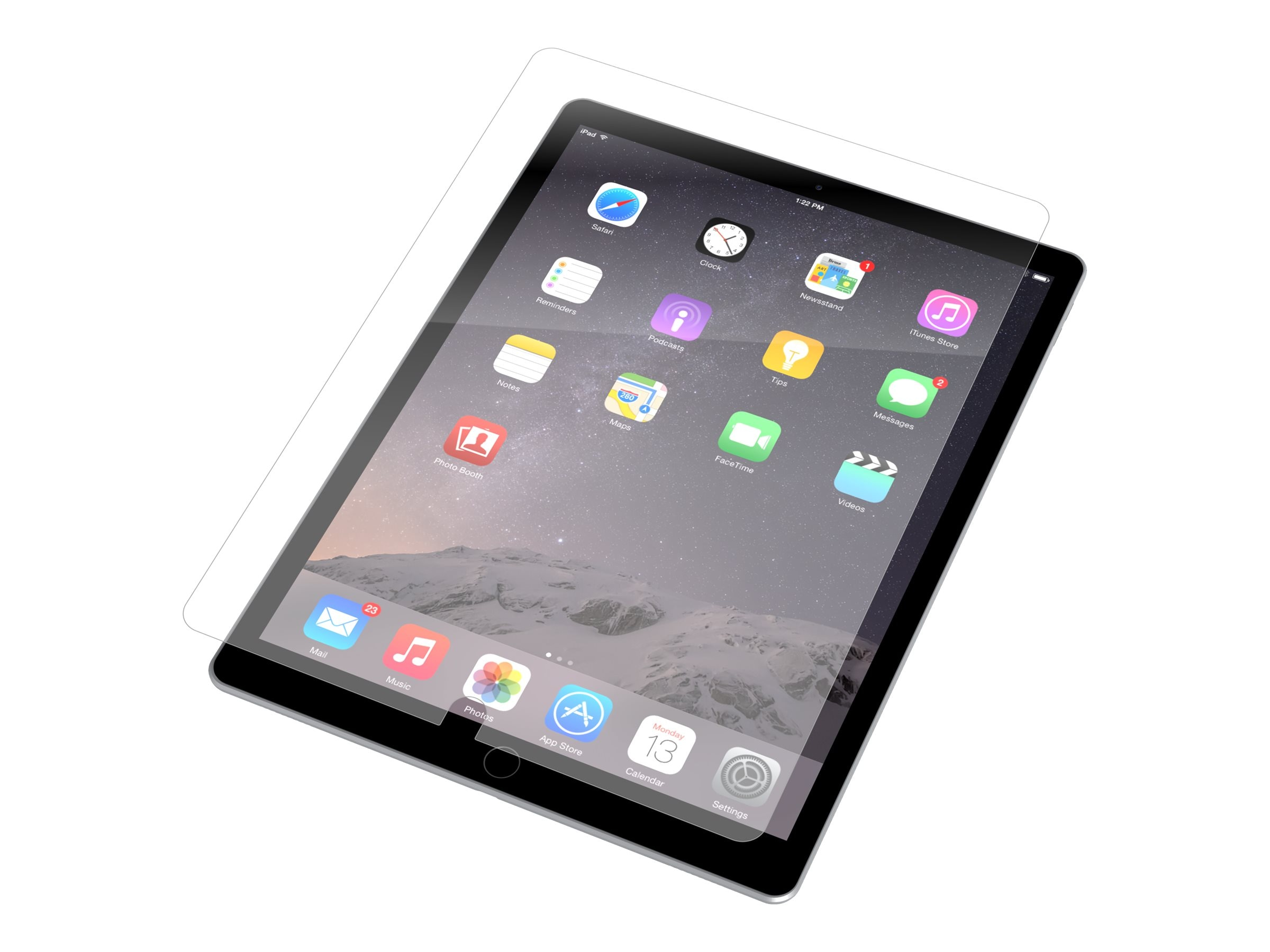 Zagg invisibleSHIELD Screen Protector for 12.9 iPad Pro, Clear, ID7GLS-F00