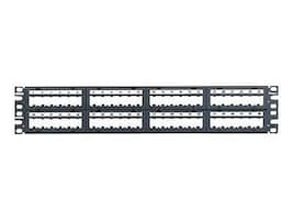 Panduit 48-Port Blank Patch Panel, 2U, CPPL48M6BLY, 13132192, Patch Panels