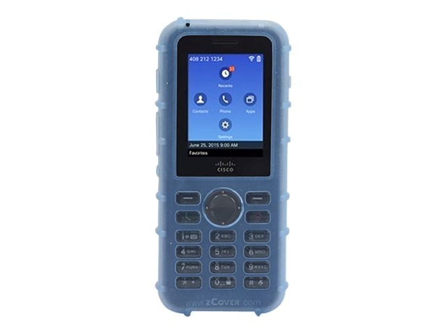 Zcover Silicone Case w Metal Clip, Blue, Dock-in-case for Cisco 8821 8821-EX, CI821HJL