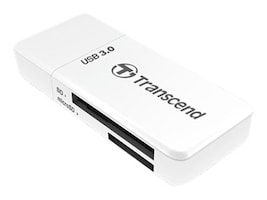 Transcend USB 3.0 Flash Memory Card Reader, White, TS-RDF5W, 17073919, PC Card/Flash Memory Readers