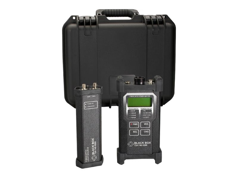 Black Box Fiber Optic Power Meter and LED Source Kit, TS1300A, 5574927, Network Test Equipment