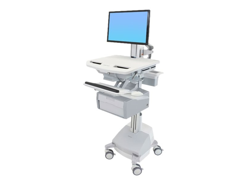 Ergotron StyleView Cart with LCD Pivot, SLA Powered, 1 Tall Drawer, SV44-13B1-1, 31498075, Computer Carts - Medical