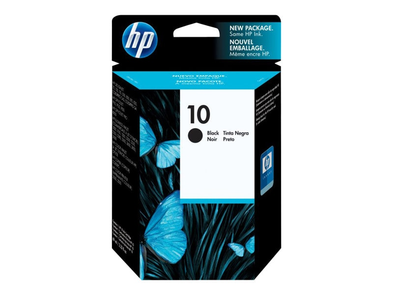 HP 10 (C4844A) Black Original Ink Cartridge, C4844A, 58992, Ink Cartridges & Ink Refill Kits