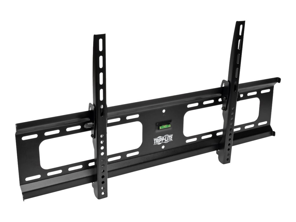 Tripp Lite Heavy-Duty Tilt Wall Mount for 37 to 80 TVs and Monitors, Flat or Curved Screens, UL Certified