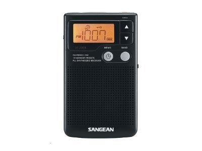 Sangean AM FM Stereo Speaker Clock Radio, DT-200X
