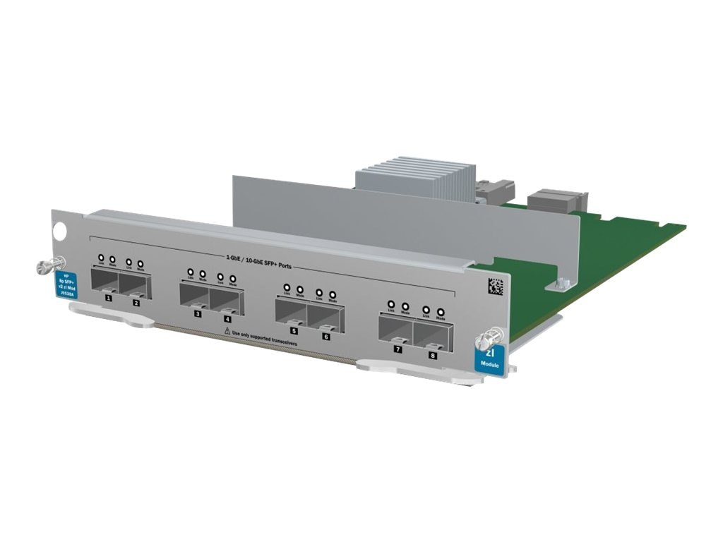 HPE 8-port 10-GBE SFP+ V2-ZL Module, J9538A, 12229988, Network Device Modules & Accessories