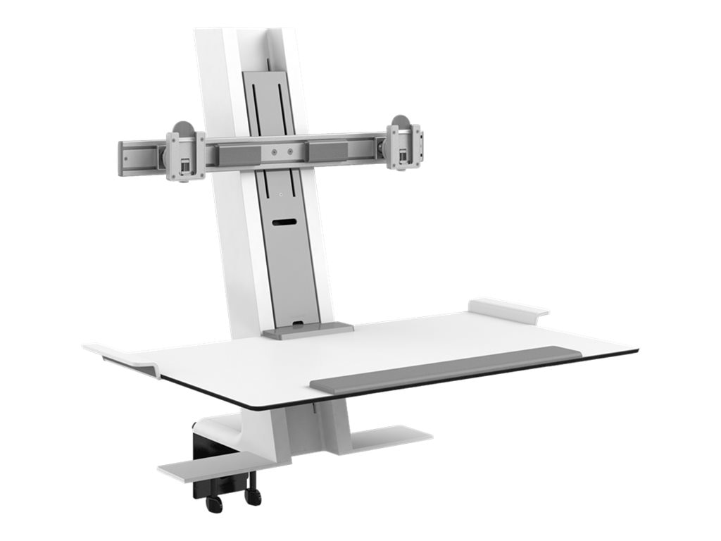 Humanscale QuickStand with Dual Display Support, Clamp Mount, 24 Crossbar