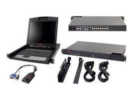 APC IP KVM with 17 Rack LCD and USB VM Server Module Bundle, KVM-BN001, 13362991, KVM Displays & Accessories