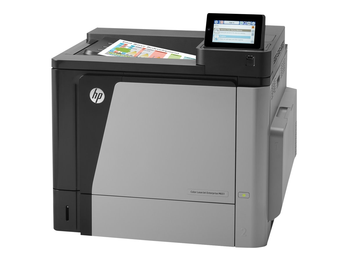 HP Color LaserJet Enterprise M651n Printer, CZ255A#BGJ, 16919441, Printers - Laser & LED (color)