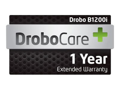 1-year 24x7 Digital DroboCare Support w Next Business Day Advanced Replacement for B1200I, DR-B1200I-1S11, 15183196, Services - Virtual - Hardware Warranty