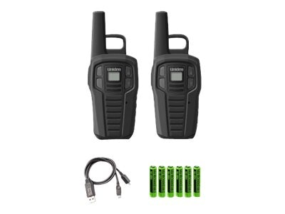 Uniden GMRS FRS 16-Mile Two-Way Radio w  Charge, SX167-2CH