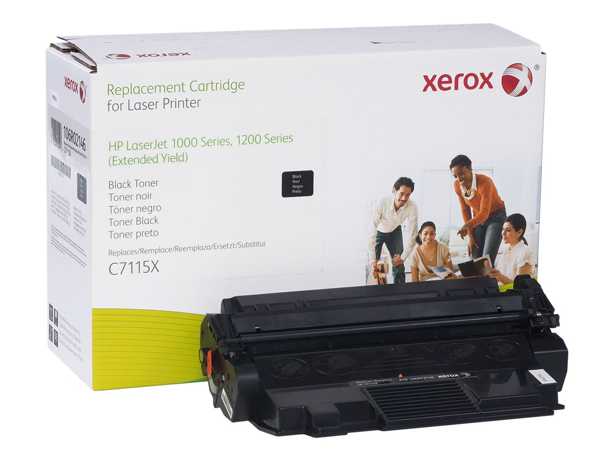 Xerox C7511X Black Toner Cartridge for HP LaserJet 1000, 1150, 1200, 1300, 3300 & 3380 Series, 106R02146