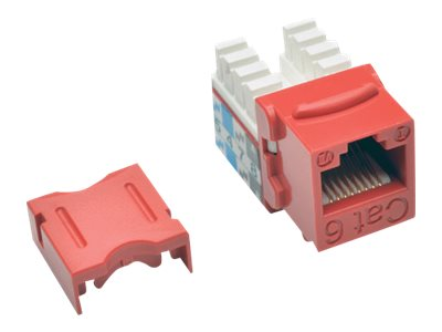 Tripp Lite Cat6 Cat5e 110-Style Punch Down Keystone Jack, Red (25-pack), Instant Rebate - Save $5