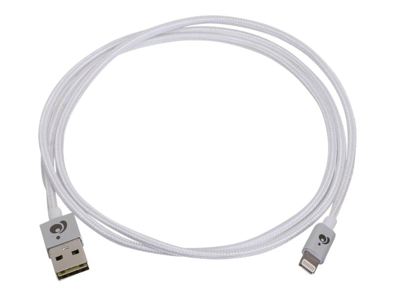 IOGEAR Charge & Sync Flip Pro Reversible USB to Lightning M M Cable, Silver, 1m, GAUL01-SIL