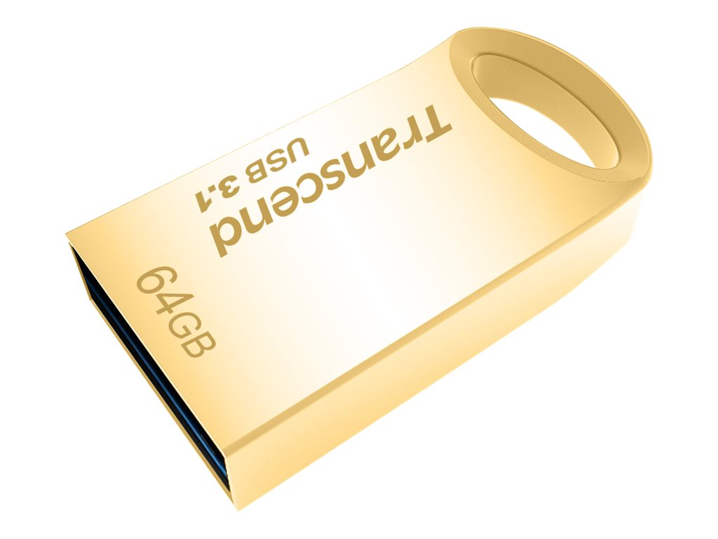 Transcend 64GB JetFlash 710 USB 3.0 Flash Drive, Gold, TS64GJF710G